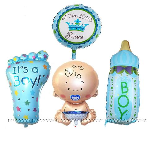 Balon Foil Baby Boy Baby 4pcs boy foil helium balloon for newborn baby shower