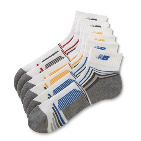3 Pairs Striped Socks new balance s 3 pairs athletic ankle socks striped