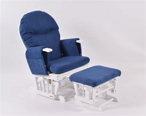 habebe recliner glider chair habebe glider chair stool white wood navy washable