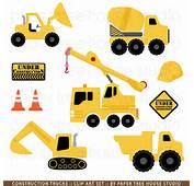 Construction Trucks Clip Art Set  9 Print Ready S ID 222