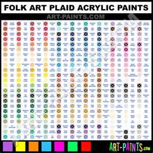 folk art acrylic paint color chart crafts general