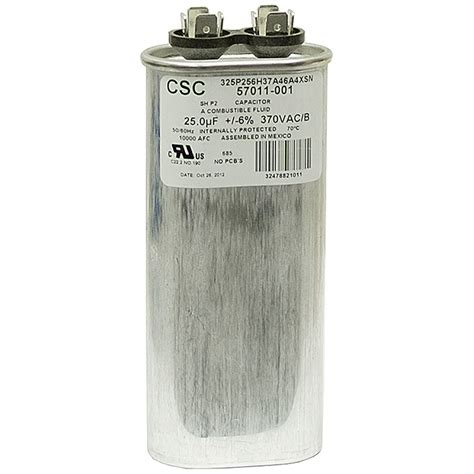 what does mfd capacitor 25 mfd 370 vac run capacitor csc 325p256h37a46a4xsn motor run capacitors capacitors