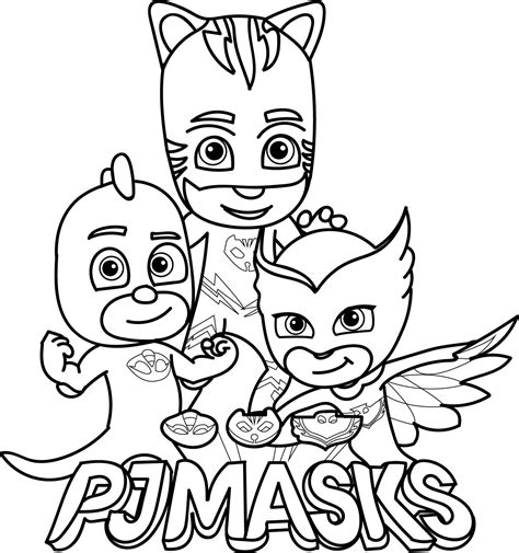 pj masks blank coloring pages pj masks coloring page coloring pages for the kids