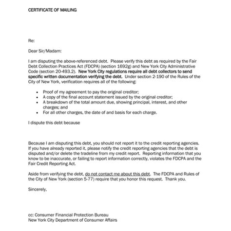 Dispute Letter For Debt Debt Letter Template 10 Sles For Word Pdf