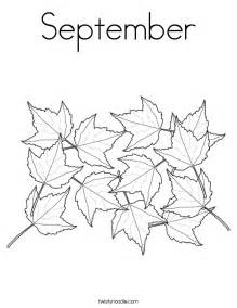 what color is september september coloring page twisty noodle