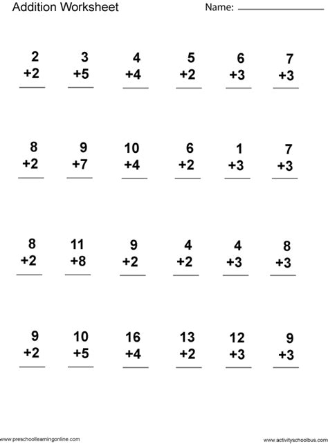 Addition And Subtraction Worksheets For Grade by Addition 1st Grade Printable Grade Math Worksheets