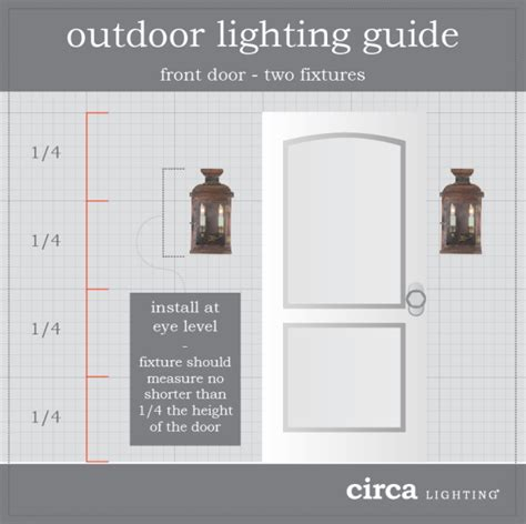 How To Install An Outside Light Fixture Outdoor Lighting Guide When Installing Two Lights On Either Side Of The Front Door The Height