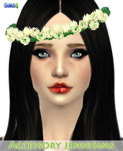 flowers bow headband at jenni sims 187 sims 4 updates cat headband and tail