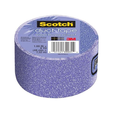 patterned electrical tape 3m scotch 1 88 in x 8 yds violet purple glitter duct