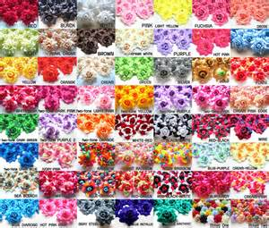 Wholesale Flowers 100x Roses Artificial Silk Flower Heads Wholesale Lots For