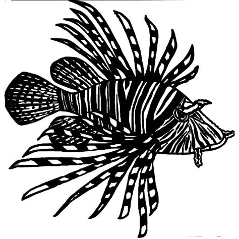 Free Coloring Pages Of A Lionfish Lionfish Coloring Page