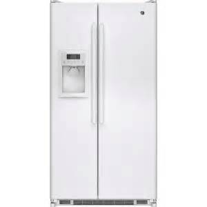 home depot side by side refrigerator ge 24 7 cu ft side by side refrigerator in white