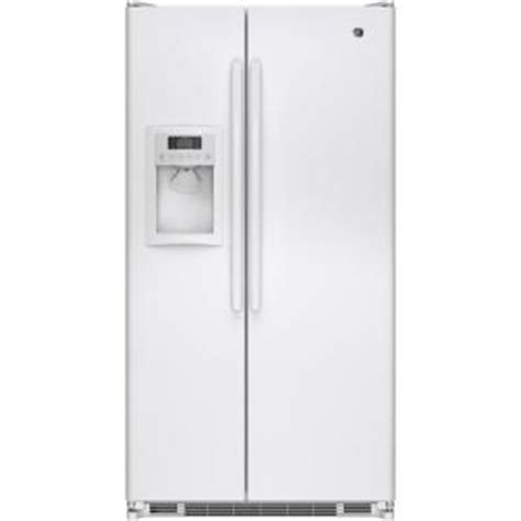 ge 24 7 cu ft side by side refrigerator in white