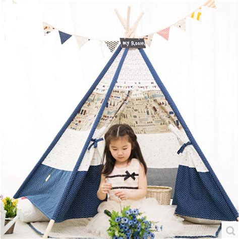 Teepee Tent Pesanan Customer teepee play tent 100 cotton canvas indoor or outdoor playhouse play tent tent in