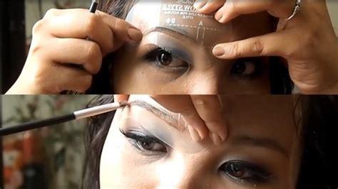 how to use eyebrow stencils 171 makeup wonderhowto
