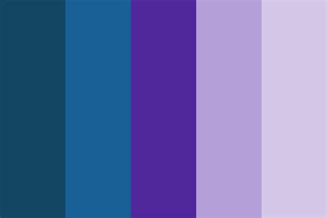 blue purple color shades of blue and purple color palette