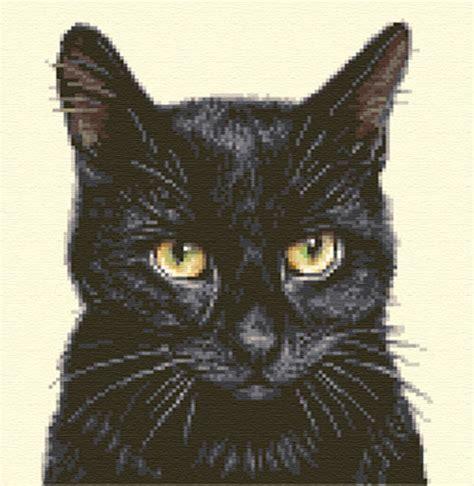 Kyt Cross White Black black cat kitten complete counted cross stitch kit ebay