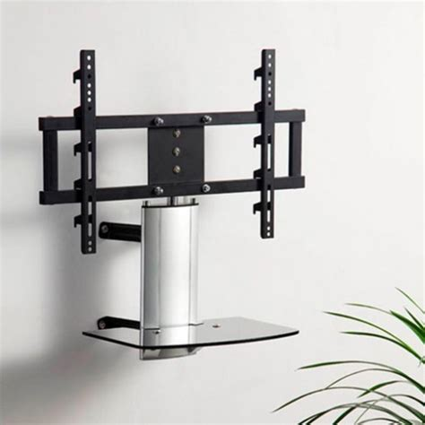 swivel wall mount tv stand with shelf shelves