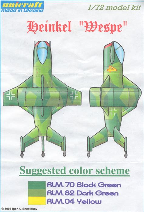kit plans listed by manufacturer model model luft 46 models heinkel wespe