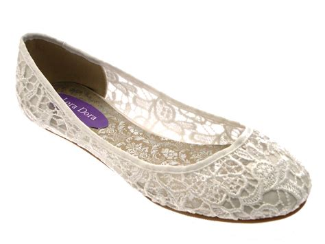bridal flat shoes ivory womens ivory lace ballet pumps flat bridal bridesmaid