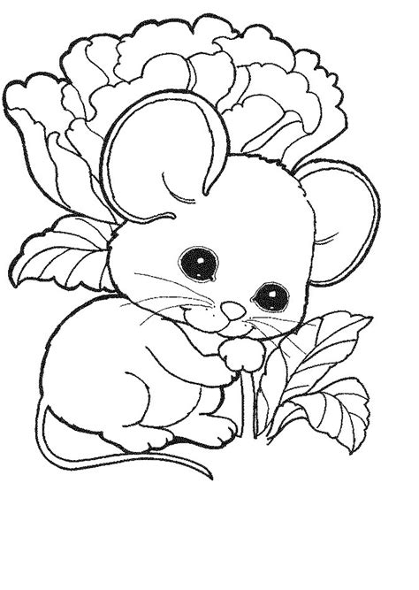 Coloring Page Mouse by Free Baby Mice Coloring Pages