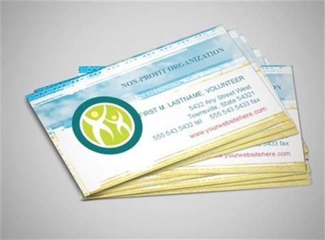 nonprofit business card templates document moved