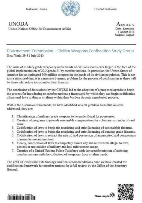 Letter Of Intent United Nations An Open Letter To The Community Coto Report