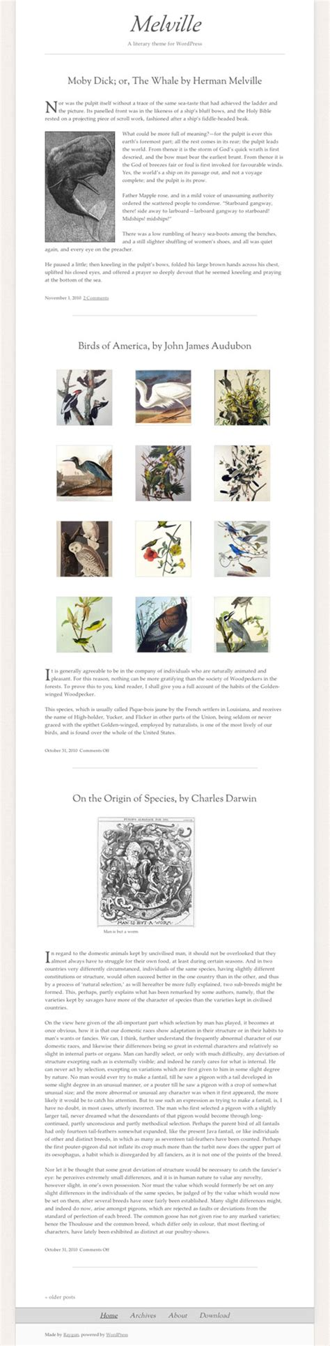 themes in classic literature melville free wordpress theme draws inspiration from