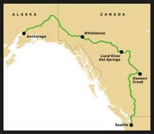 alaska canada highway map alaska road trip seattle met