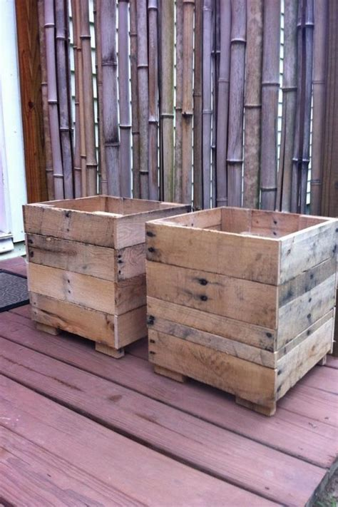 planter boxes made from pallet wood http dunway info