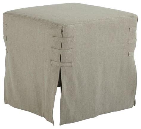 cube ottoman slipcover aidan gray alfreda ottoman hemp slipcover small