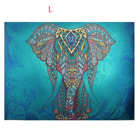 Indian Elephant Rug by Indian Hippie Mandala Tapestry Elephant Wall Hanging