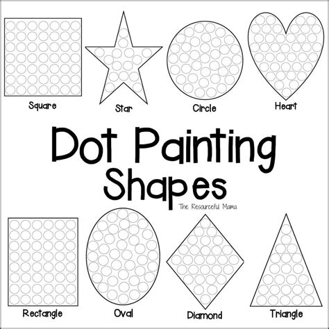 printable dot art worksheets shapes dot painting free printable dot painting motor