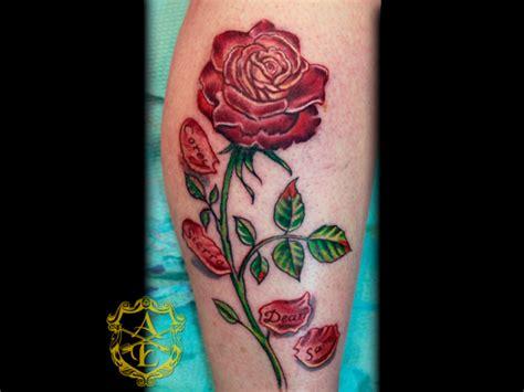 falling rose petals tattoo flower 171 arrowsandembers