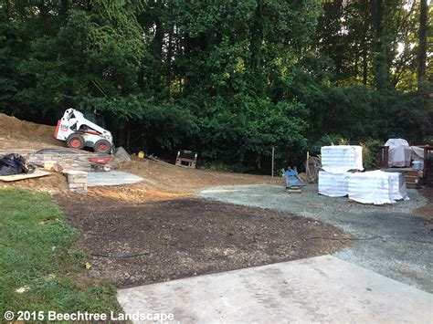 By Design Forest Hill Md | flagstone patio paver patio and plantings in forest hill md