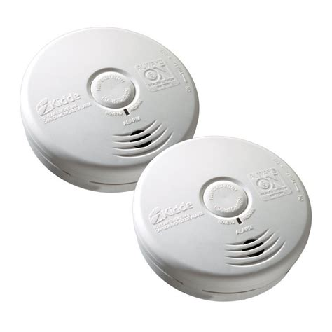 10 Year Smoke And Carbon Monoxide Detector - kidde 10 year sealed lithium battery operated combination