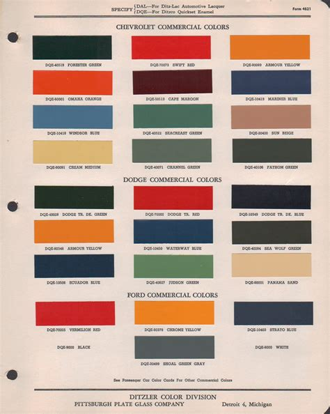 paint chips 1947 dodge truck fleet commerical