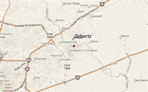 schertz texas map schertz location guide