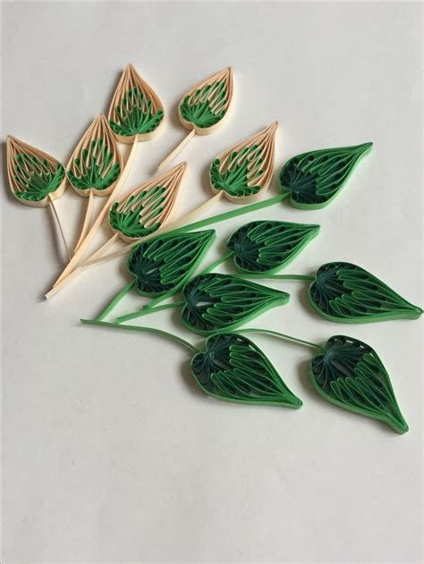 leaf pattern quilling 119 best quilling leaves images on pinterest paper