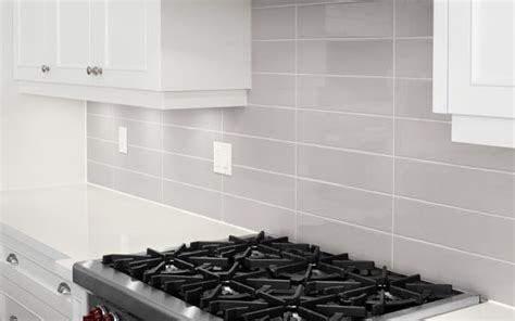kitchen backsplash gray subway tile stacked