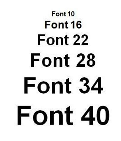 printable font size font size matters half elf on tech