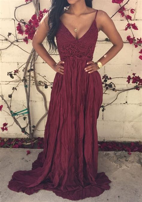you are here home dresses white lace spliced open back maxi dress outletpad burgundy lace spliced open back maxi dress