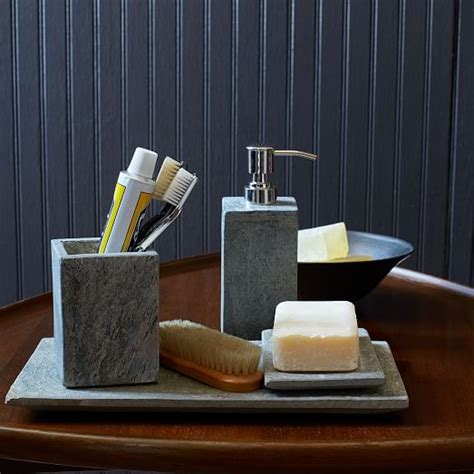 slate bath accessories west elm