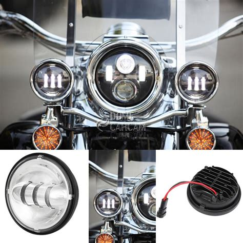 2015 street glide auxiliary lights chrome 4 5 quot led passing fog lights for harley street glide
