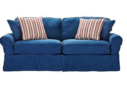 cindy crawford denim sofa this cindy crawford sleeper sofa from rooms to go is the