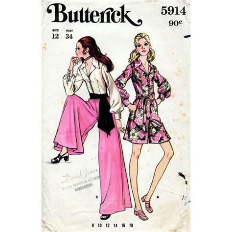 sewing pattern palazzo pants 1960s jumpsuit pattern pantdress culottes palazzo pants