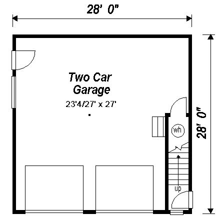 Garage Door Designer garage plan 98892 at familyhomeplans com