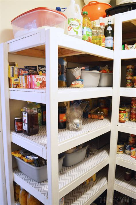 Diy Pantry Shelving by Diy Functional Pantry Shelving The Happy Scraps
