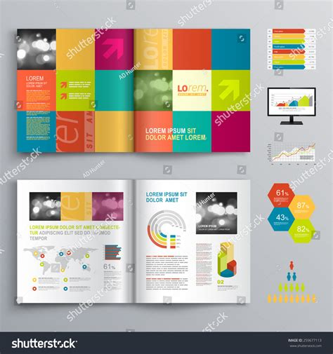 creative brochure template creative brochure template design color shapes stock