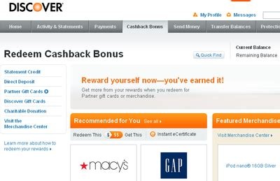 Discover Gift Card Partners - what is the best way to redeem discover cashback bonus 187 banking 123